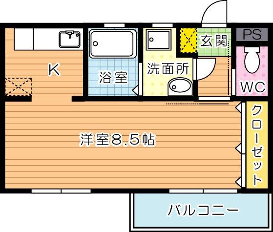 AQUA清水(アクア清水) 502号室 間取り