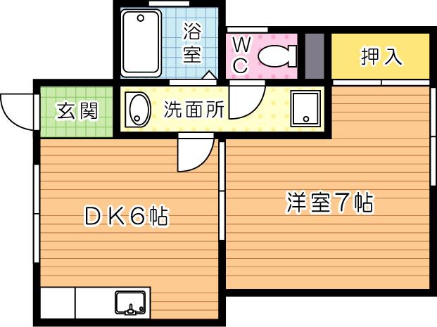 新高田・岡田アパート 101号室 間取り