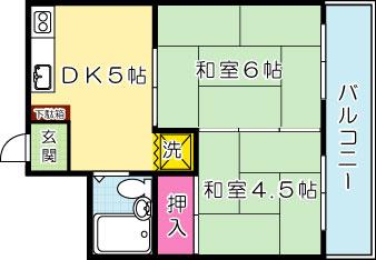 マイコーポ依田1号館 301号室 間取り