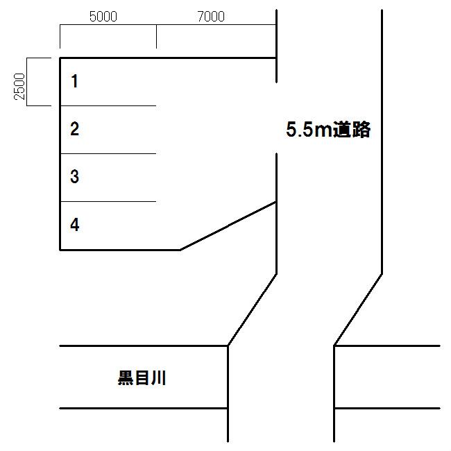 黒目川パーキング 間取り図