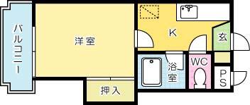 シャトレ片野Ⅲ 402号室 間取り
