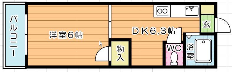 ヤングハイツ元宮 305号室 間取り