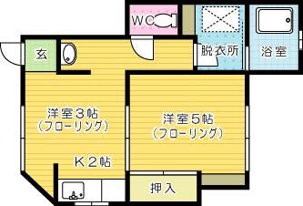 新高田・岡田アパートA棟 101号室 間取り