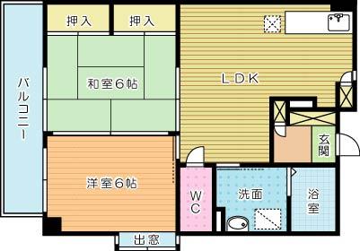 サンシャイン石田 (高齢者向け優良賃貸住宅) 307号室 間取り