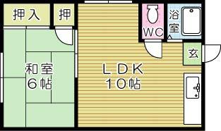 篠崎ハイツ 103号室 間取り