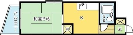 KIビル三萩野 701号室 間取り