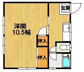 小川アパート 6号室 間取り