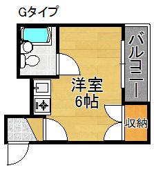 CHEERFUL HOUSE 1年22組 間取り