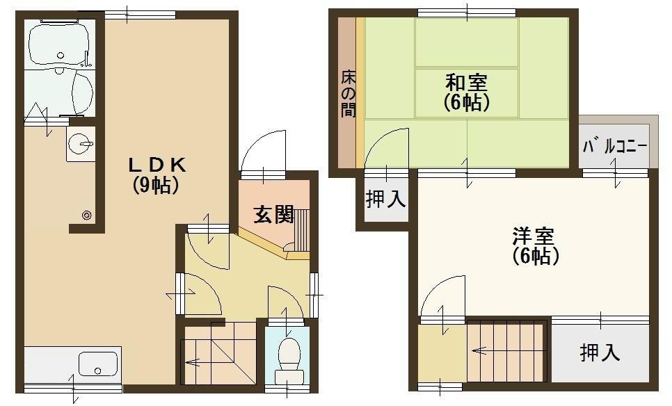 都塚1丁目戸建 間取り図