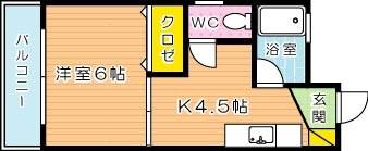 井ビルⅡ 401号室 間取り