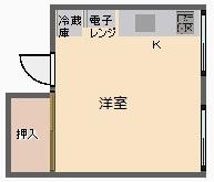岡嶋荘 201号室 間取り