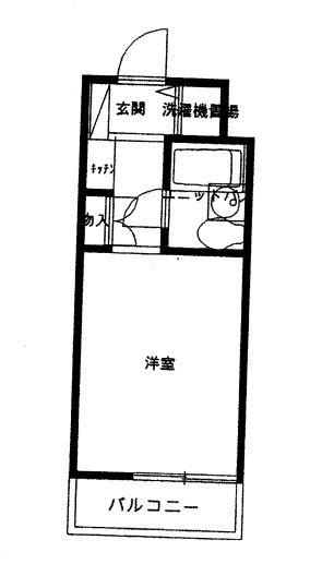 ライオンズマンション新横浜B館 間取り図