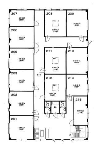 b-space2(ビースペース2)事務所 208号室 間取り