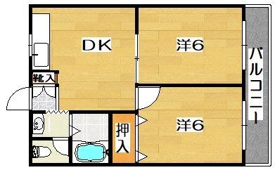 サンワロイヤルマンション 303号室 間取り