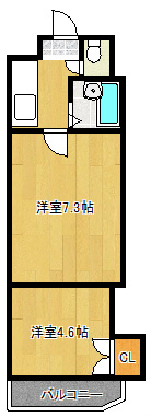 1106号室 間取り