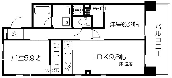 IL ROSSO堀川六角 904号室 間取り