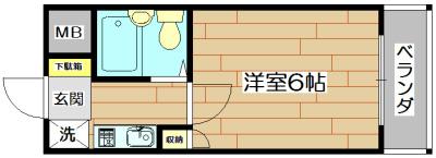 土室マンション 302号室 間取り