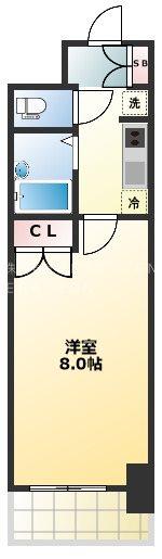 フォレシティ日本橋Ⅴ 1310号室 間取り