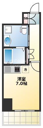 ルネ日本橋アネーロ 1201号室 間取り