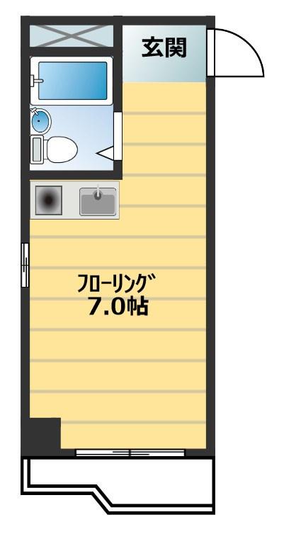シャンクレール南堀江 903号室 間取り
