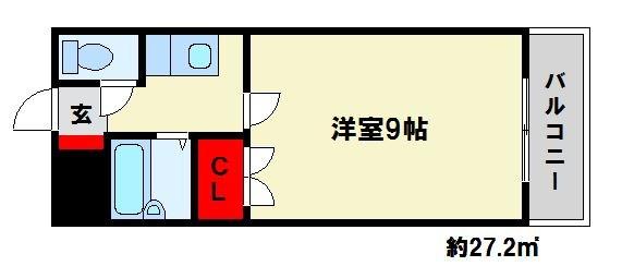 ロイヤルハイツ春日 102号室 間取り