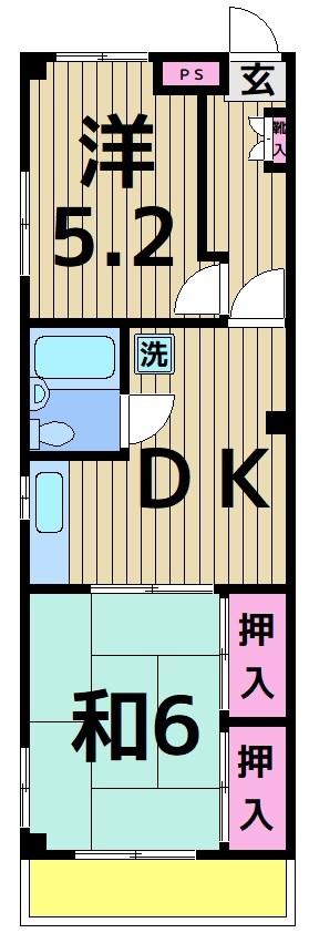 勝木コーポ 203号室 間取り