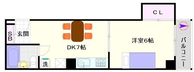 桜川コーポ 間取り