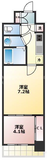 SERENITE本町エコート 1309号室 間取り
