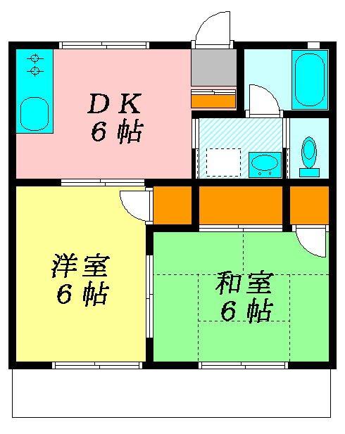 ハイツタチザワ2号棟 202号室 間取り