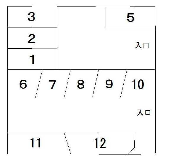 豊成第五駐車場(No.6~No.12)  間取り