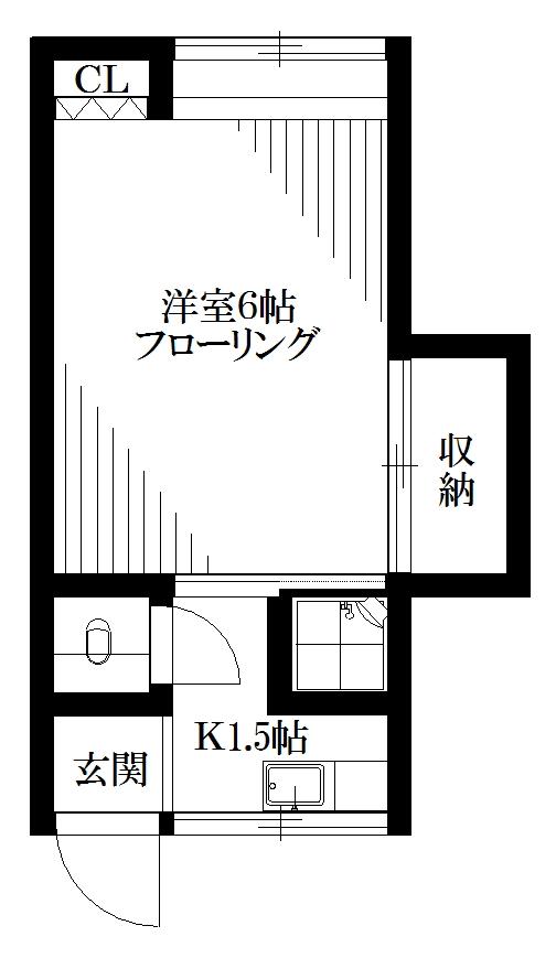 ジュネス中野本町(旧寿楽荘) 103号室 間取り