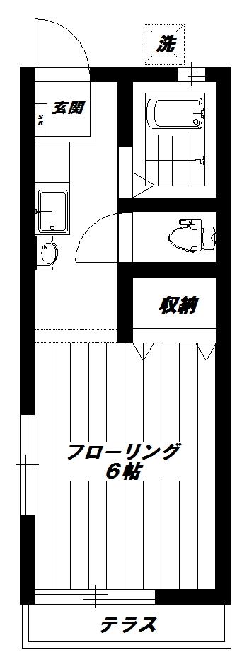 東京都中野区沼袋2丁目 間取り