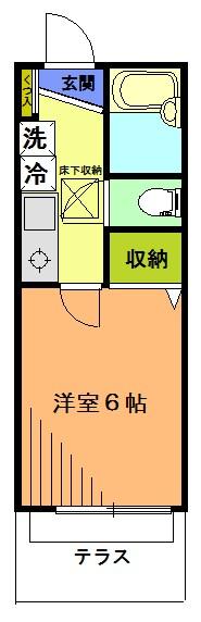 ジュネス駒沢 102号室 間取り