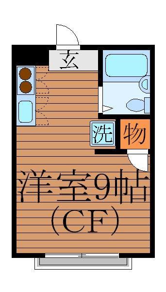 Flat2 203号室 間取り