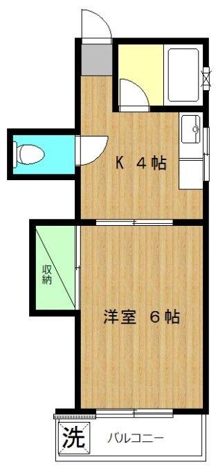 髙木荘 201号室 間取り