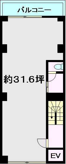 レーベン早川 401号室 間取り