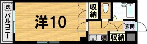 acuerdo仁王門 206号室 間取り