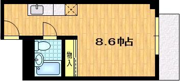 カーサK's 301号室 間取り