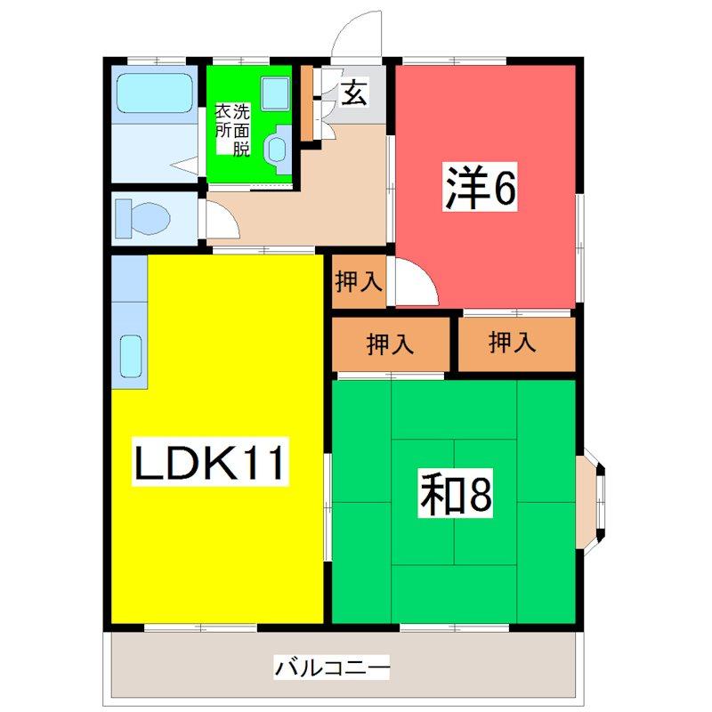 ベルフラワー保田窪 202号室 間取り