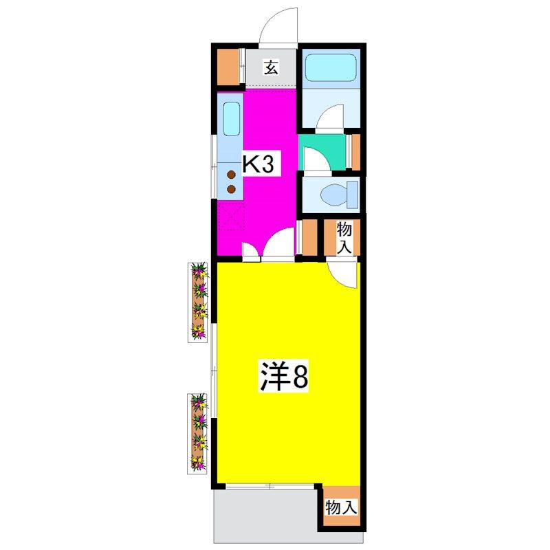 コーポトミザワ 103号室 間取り