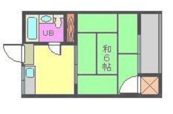 コーポ中川Ⅱ 202号室 間取り