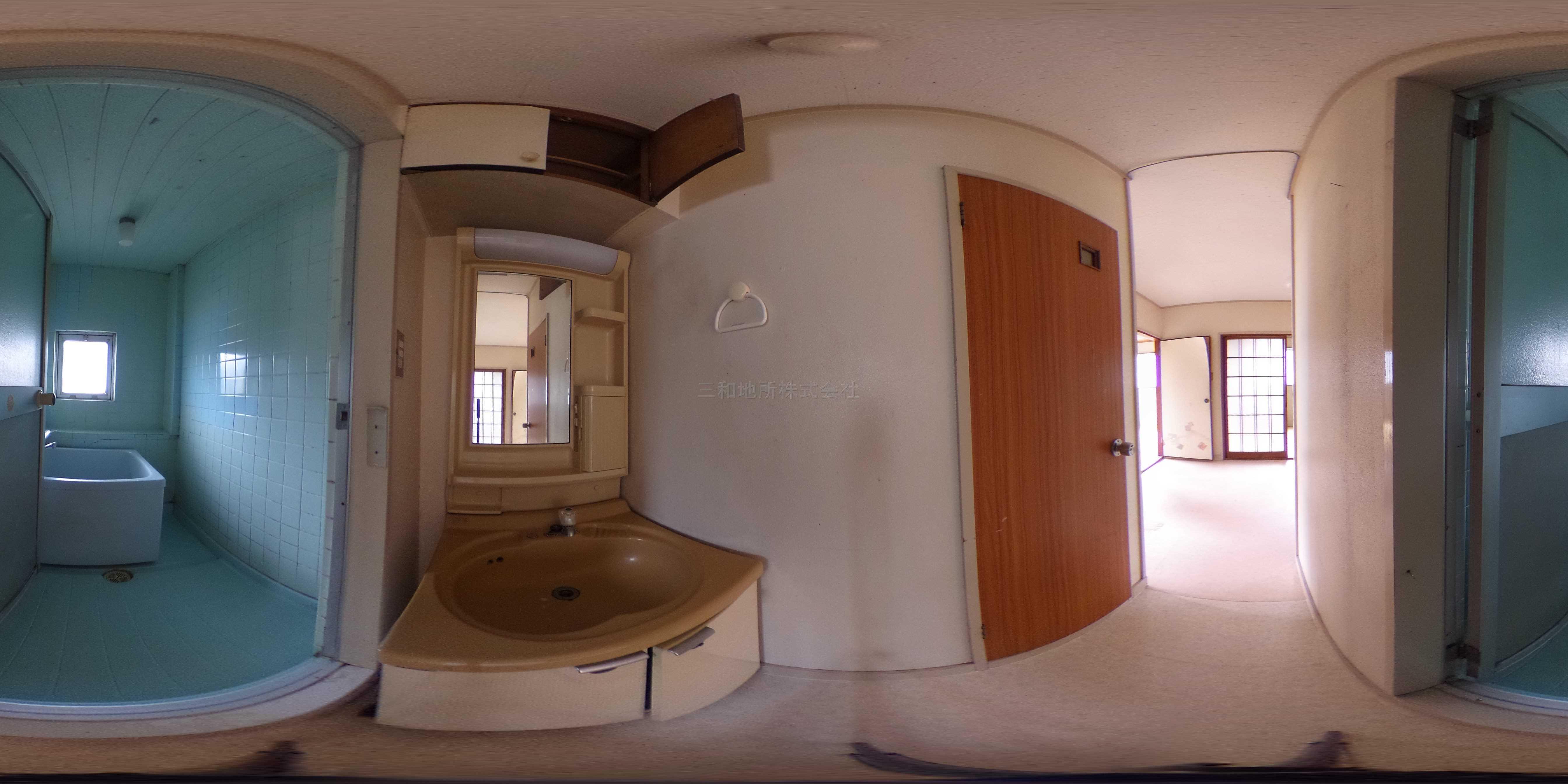 西村アパート 洗面所