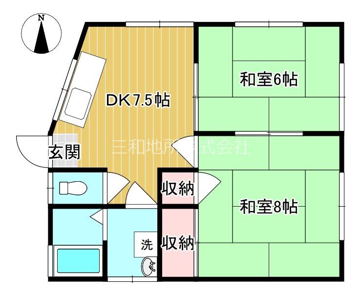 岬之町ハイツ 2階号室 間取り
