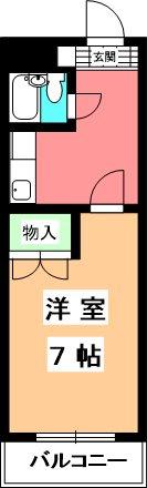 石村ハイツ 310号室 間取り