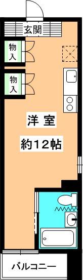 original box 28 8B号室 間取り