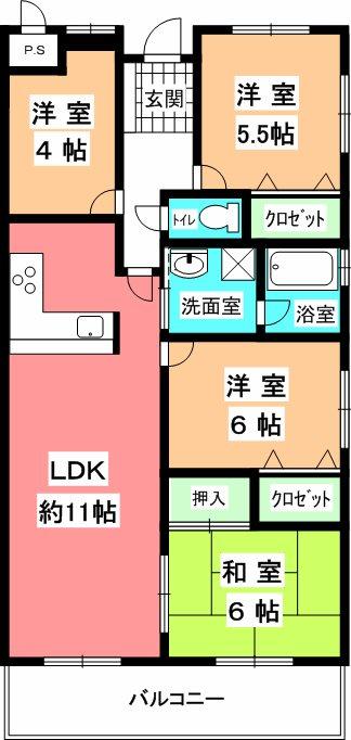 KマンションNo.3 間取り