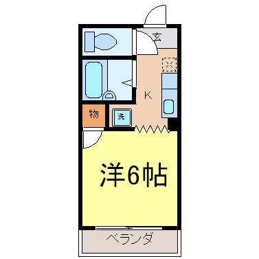 エクセル新栄 102号室 間取り