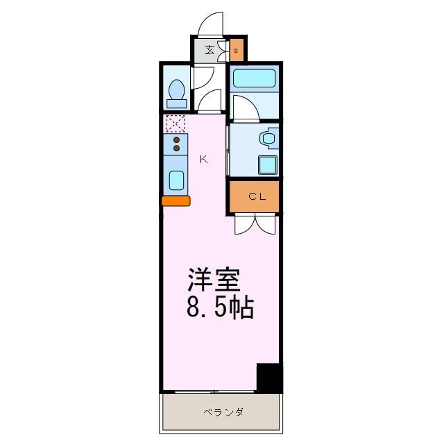 S-FORT東別院(旧:サムティ東別院RESIDENCE) 905号室 間取り