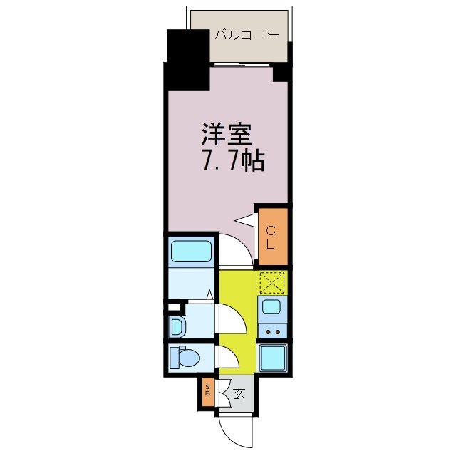 プレサンス東別院駅前Ⅱ 703号室 間取り