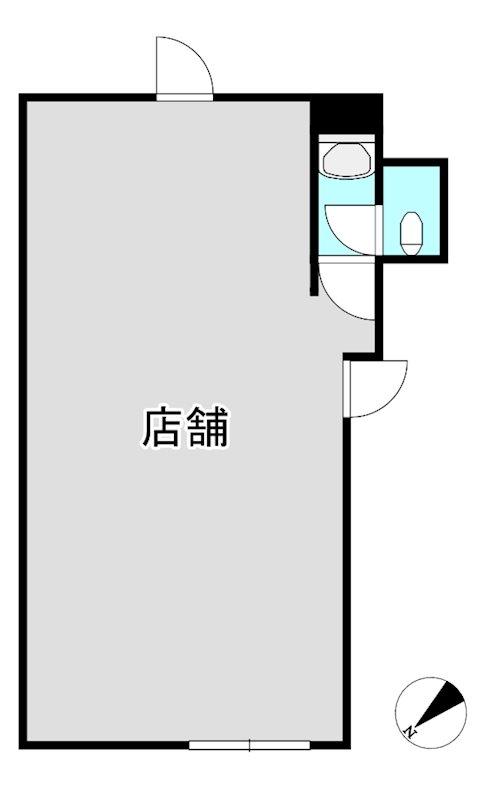 鈴木ビル(店舗) 202号室 間取り